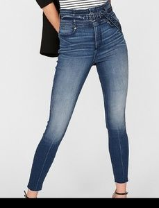 Express super high rise ankle legging jeans